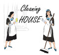 Cleaning Service Sign. Retro S...