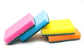 Cleaning sponge isolated of vibrant color on white background Royalty Free Stock Image