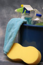 Cleaning Supplies Stock Image