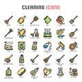 Cleaning , Thin Line and Pixel Perfect Icons Royalty Free Stock Photo