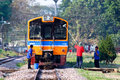 Cleaning thn diesel railcar chiangmai thailand march no for train no at chiangmai railway station free ticket train to nakhonsawan Stock Photos