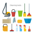 Cleaning Tools Isolated. House Washing Equipment. Royalty Free Stock Photo