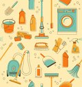 Cleaning tools seamless background