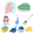 Cleaning, washing and everything connected with it. A set of icons for cleaning. Cleaning and maid icon in set
