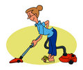 Cleaninglady Stock Image