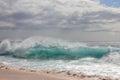 Clear Aqua Wave Royalty Free Stock Photo