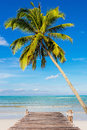 Clear beach on daylight in thailand asia Royalty Free Stock Image