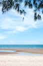 Clear beach under the sunlight of summer time in thailand Royalty Free Stock Image