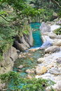 Clear blue river in Taroko National Park Royalty Free Stock Photos