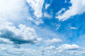 Clear blue sky with cloud background.