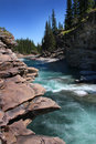 Clear blue sky over the Sheep River,Alberta Royalty Free Stock Photo