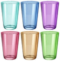 Clear drinking glasses illustration of the on a white background Stock Photo
