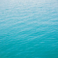 Clear green sea with waves sotf Royalty Free Stock Image