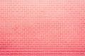 Clear pink brick wall pattern Royalty Free Stock Photo