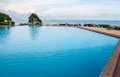 Clear pool near the sea in the evening Royalty Free Stock Photo