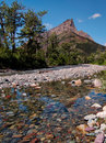 Clear Rockey Creek with Mountain Peak Royalty Free Stock Photo