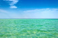 Clear sea horizon Stock Photo