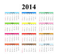 Clear simple calendar designed on a white background Royalty Free Stock Photos