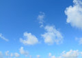 Clear sky blue and white clouds in sardinia Stock Images