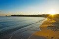 Clear sky over lazzaretto beach alghero shot in sardinia italy Royalty Free Stock Photo