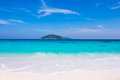 Clear water beautiful sea like a heaven at similan island phang nga thailand Stock Images