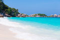 Clear water beautiful sea like a heaven at similan island phang nga thailand Stock Photography