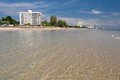 Clear water at huahin thailand relax time with Royalty Free Stock Image