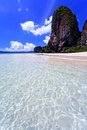 Clear water in thai sea Royalty Free Stock Images
