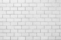 Clear White brick wall pattern Royalty Free Stock Photo
