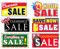 Clearance Discount Sale Icons Royalty Free Stock Photo