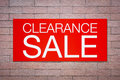 Clearance sale billboard Royalty Free Stock Photo
