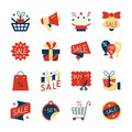 Clearance sale colorful flat style icon set