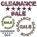 Clearance sale an image of a message Stock Image