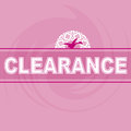 Clearance sale logo pink background bird with swirl and ornate accent can be used in fliers and catalogs Royalty Free Stock Photography