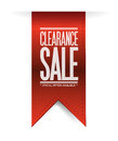 Clearance sale red banner illustration design over white Stock Image