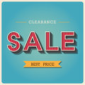 Clearance sale retro type font illustratiom eps Royalty Free Stock Photo