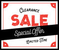 Clearance Sale vintage style heading design for banner or poster