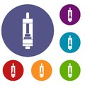 Clearomizer for cigarette icons set