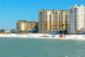 Clearwater beach florida feb beachgoers enjoy a day on recently renovated and named one of the best beaches in Stock Photo