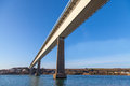 Cleddau bridge in pembrokeshire between neyland and pembroke dock near milford haven wales taken from underneath Stock Photo