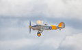 Cleethorpes england july hawker nimrod biplane flyi in flight at cleethropes air show Royalty Free Stock Photo