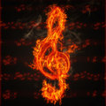 Clef on fire Royalty Free Stock Photos