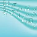 Clef projekta muzyczne notatki treble twój Obrazy Royalty Free