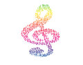 Clef rainbow the violin consist of small and middle clefs notes Stock Images