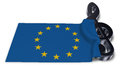 Clef symbol and flag of the european union