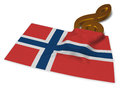 Clef symbol and flag of norway