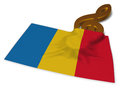 Clef symbol and flag of romania
