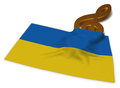 Clef symbol and flag of the ukraine