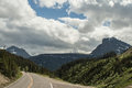 Clement s mountain montana as viewed from going to the sun road in glacier national park Royalty Free Stock Photography