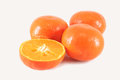 Clementines cut isolated close up Stock Photography